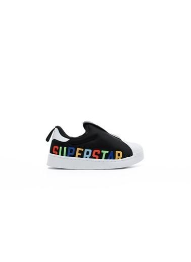adidas Unisex Çocuk Superstar 360 X Sneakers FV7232.Siyah Siyah